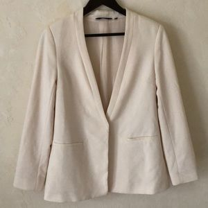ASOS New Look Cream Single Button Fitted Blazer 10